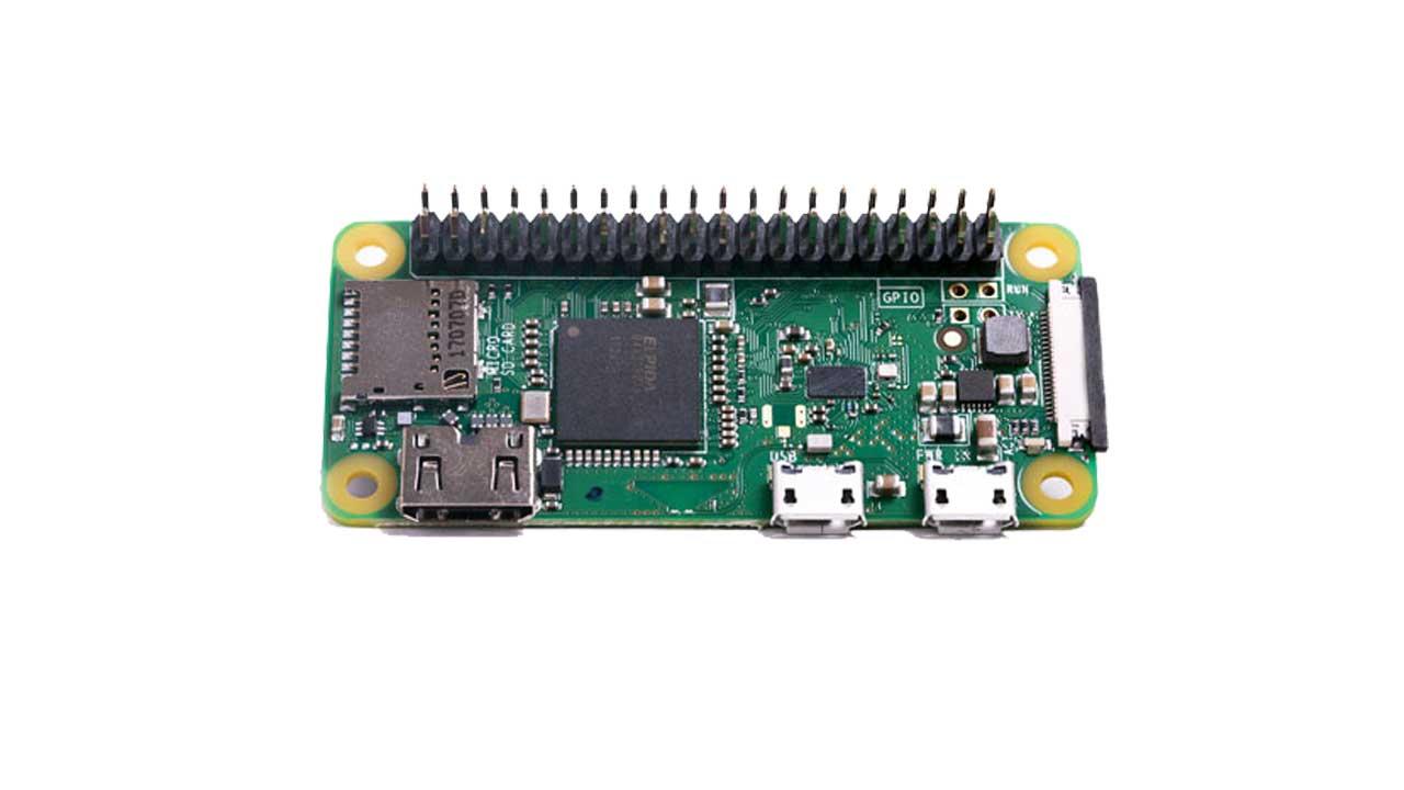رزبری پای زیرو وای فای با هدر - Raspberry Pi Zero w WH