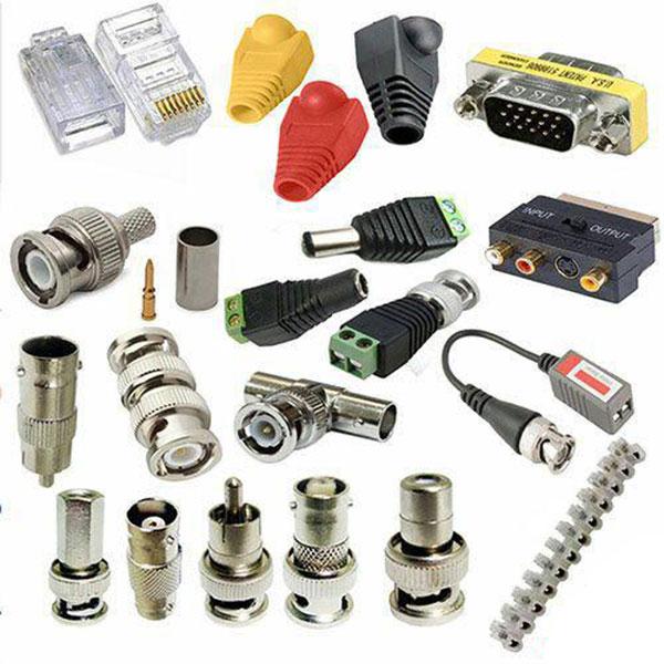 انواع فیش و سوکت ارتباطی دوربین های مداربسته و شبکه