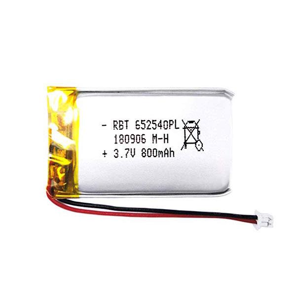 باتری لیتیوم پلیمر 3.7V با توان 800 میلی آمپر