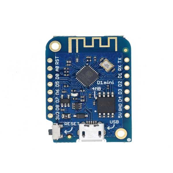 برد توسعه ویموس - Wemos D1 Mini بر پایه ESP-8266EX تراشه CH340G
