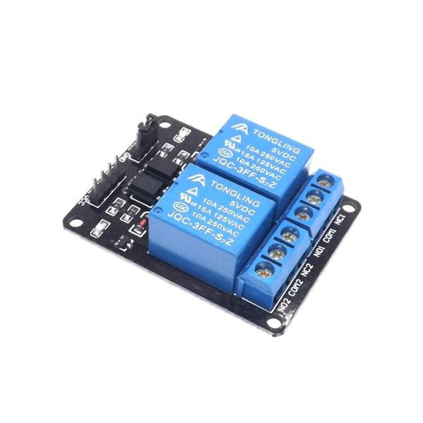 ماژول رله 5 ولت دو کانال - 2channel relay modules
