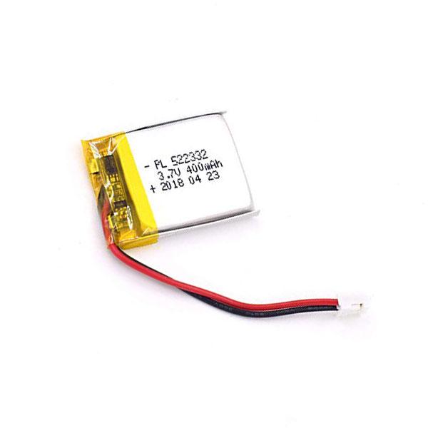 باتری لیتیوم پلیمر 3.7V با توان 400 میلی آمپر