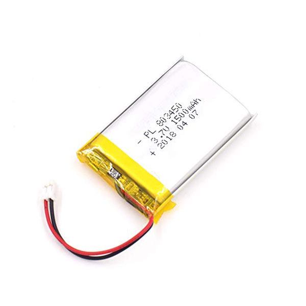 باتری لیتیوم پلیمر 3.7V با توان 1500 میلی آمپر - 803450