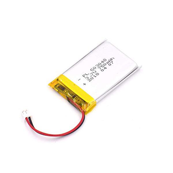 باتری لیتیوم پلیمر 3.7V با توان 750 میلی آمپر