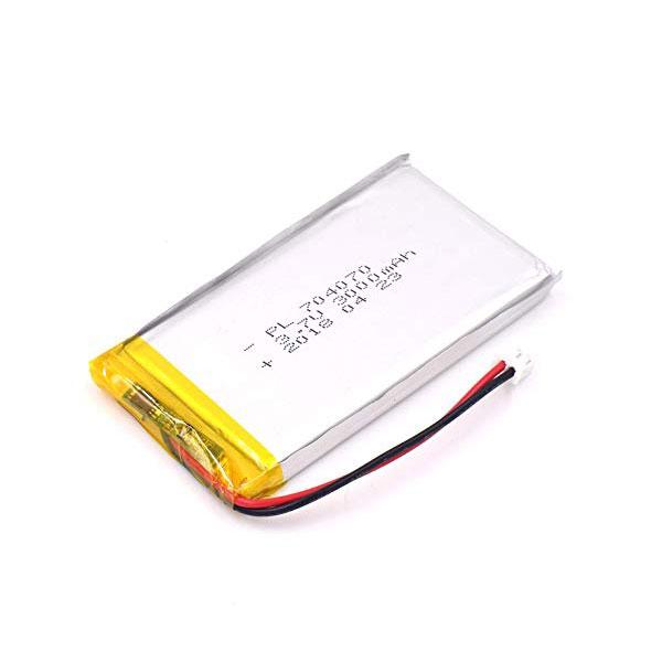 باتری لیتیوم پلیمر 3.7V با توان 3000 میلی آمپر